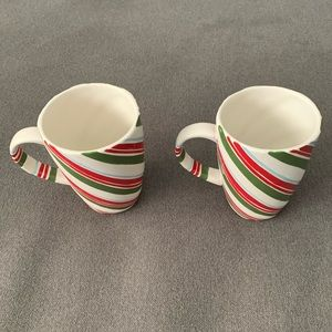 Hallmark Candy Cane Mugs - set of 2